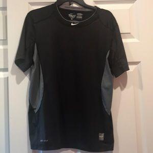 Nike Pro Combat Dri-Fit fitted black tee medium